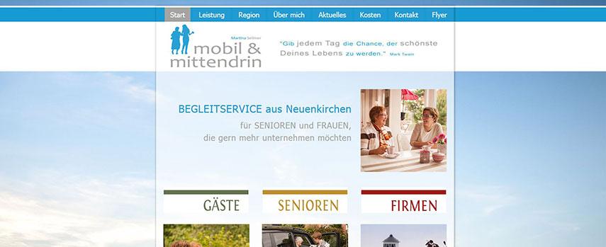 Meine neue Webseite ist online. Ich bin Martina Sellmer von mobil & mittendrin und habe einen Begleitservice für Senioren und Frauen.
